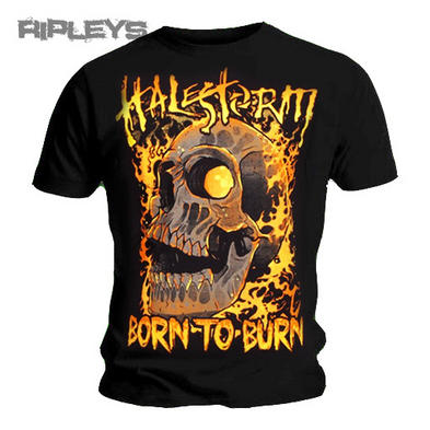 OFFICIAL T Shirt HALESTORM Freak FIRE SKULL Born to Burn All Sizes