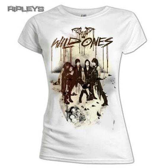 Official Ladies T Shirt BLACK VEIL BRIDES White SKELETAL Wild Ones All Sizes