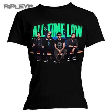 Official Skinny Ladies T Shirt ALL TIME LOW Black GROUP Press Band All Sizes