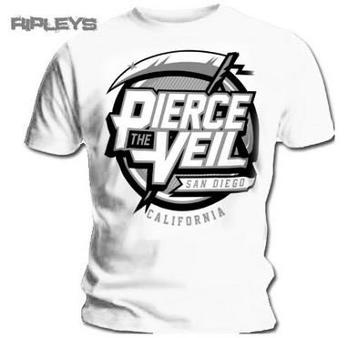 Official T Shirt PIERCE THE VEIL Selfish Machines REAPER White All Sizes