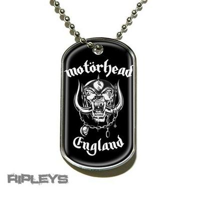 Official MOTORHEAD Necklace Dogtag ENGLAND Logo Gift