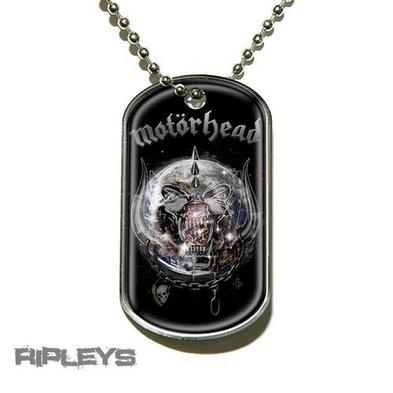 Official MOTORHEAD Necklace Dogtag THE WORLD IS YOURS Gift