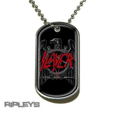 Official SLAYER Necklace Dogtag BLACK EAGLE Metal Gift