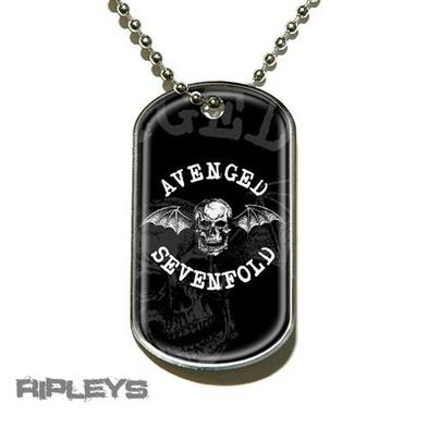 Official AVENGED SEVENFOLD Necklace Dogtag DEATHBAT Skull Gift