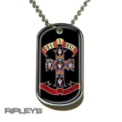 Official GUNS N ROSES Necklace Dogtag APPETITE Gift