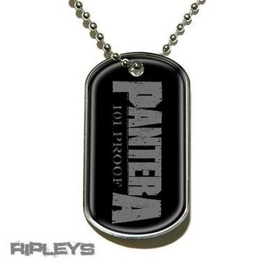 Official PANTERA Necklace Dogtag 101 PROOF LOGO Metal Gift