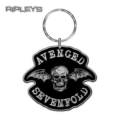 Official AVENGED SEVENFOLD Metal KEYCHAIN Keyring Deathbat Skull