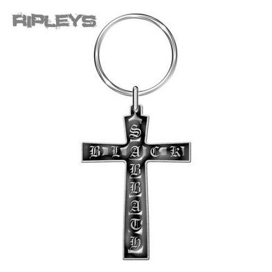 Official BLACK SABBATH Metal KEYCHAIN Keyring Cross Ozzy Gift