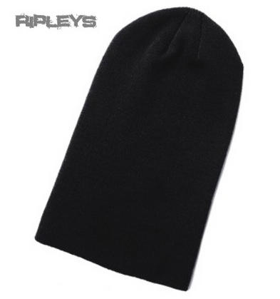 ACCENT Casual Unisex Skater/Goth Black Long BEANIE HAT Winter