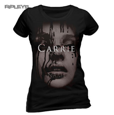 Official Ladies T Shirt CARRIE Horror Movie FACE Stephen King All Sizes