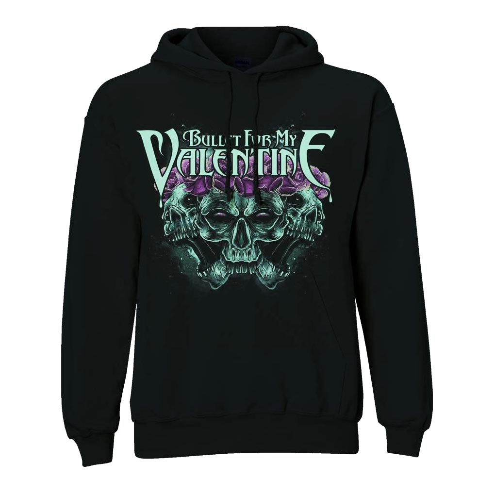 Official-BULLET-FOR-MY-VALENTINE-Hoody-Crown-of-Roses-All-Sizes