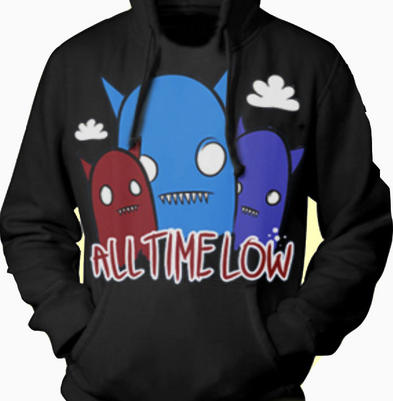 Official ALL TIME LOW Hoody Hoodie GHOSTS Black Emo All Sizes