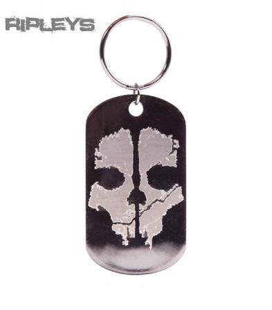 Official CALL OF DUTY Keychain GHOST KEYRING Skull Gift Metal NEW
