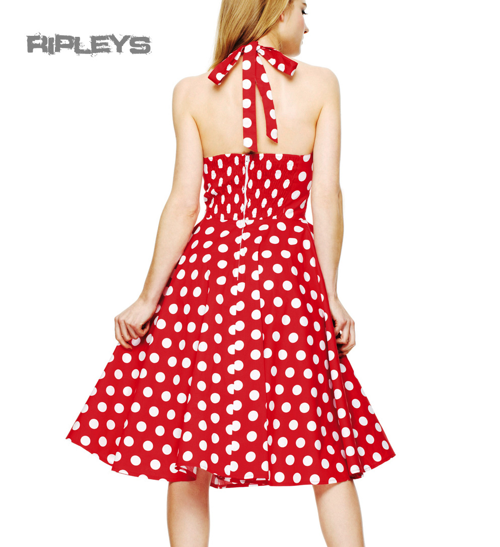 hell bunny polka dot 50s dress mariam pin up prom red. Black Bedroom Furniture Sets. Home Design Ideas