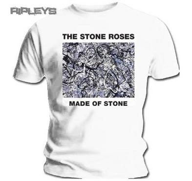 Official T Shirt THE STONE ROSES Made of Stone WHITE Movie All Sizes