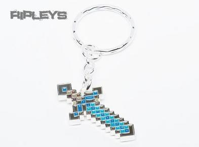 JINX Official Minecraft Keyring Keychain DIAMOND SWORD Metal Gift