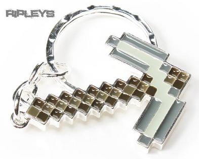 JINX Official Minecraft Keyring Keychain PICKAXE Metal Gift