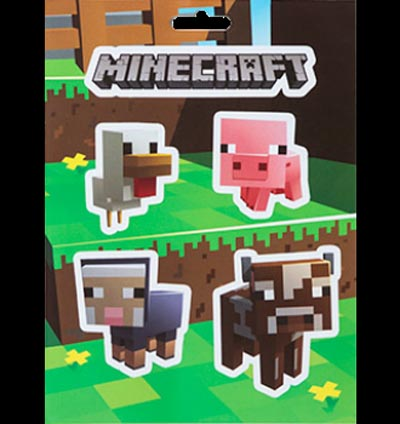 JINX Official Minecraft STICKERS SET Gift Creeper BABY ANIMALS