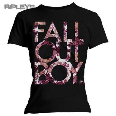 Official Ladies T Shirt FALL OUT BOY Black FLORAL Flowers All Sizes