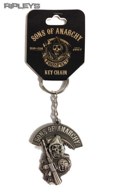 Official SONS OF ANARCHY Reaper Logo KEYCHAIN Metal Keyring Gift