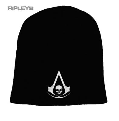 Official ASSASSIN'S CREED Game Beanie Hat SKULL Black/White New