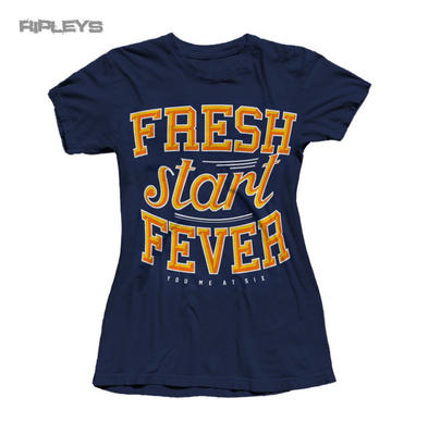 Official Ladies T Shirt YOU ME AT SIX Blue FRESH START FEVER All Sizes