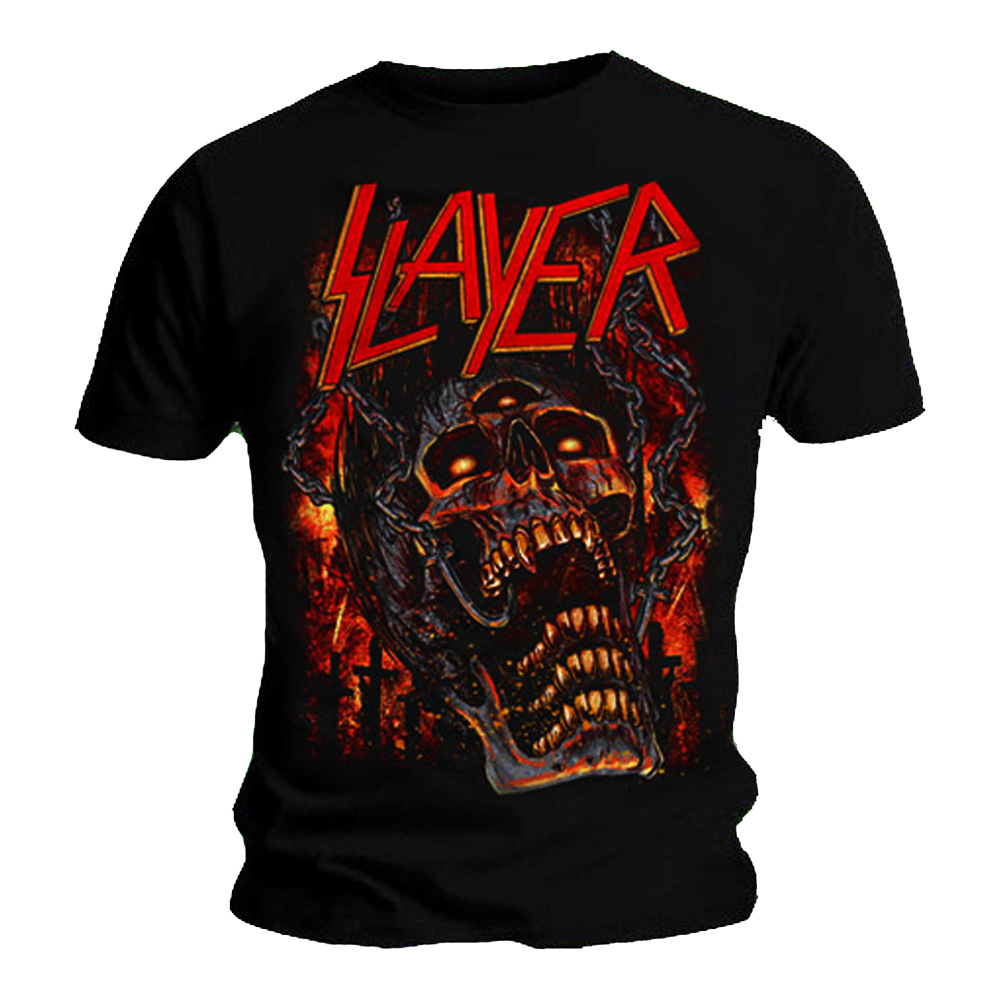 official t shirt slayer skull meathooks metal all sizes ebay. Black Bedroom Furniture Sets. Home Design Ideas