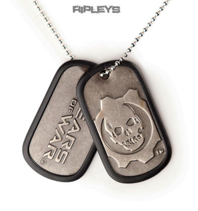 Official GEARS OF WAR Army 2 DOGTAGS Skull Wheel Gift
