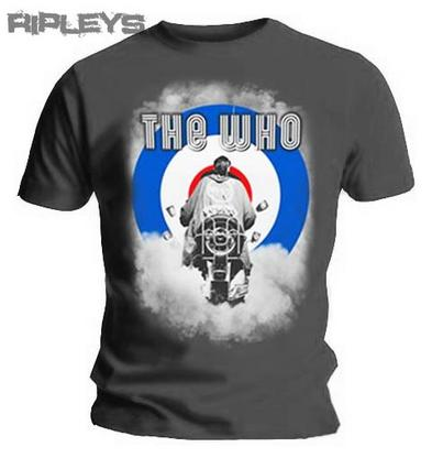Official T Shirt THE WHO Grey Motorbike SMOKE Logo All Sizes