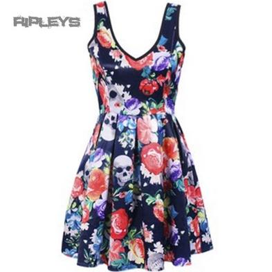 IRON FIST Ladies Mini Dress ROAMING HEART Flowers Skulls All Sizes