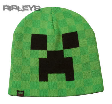 Official Jinx Gaming Green MINECRAFT Creeper Blocks BEANIE HAT