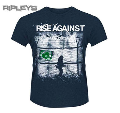 Official T Shirt RISE AGAINST Soldier Battle BORDERS 2 Blue All Sizes