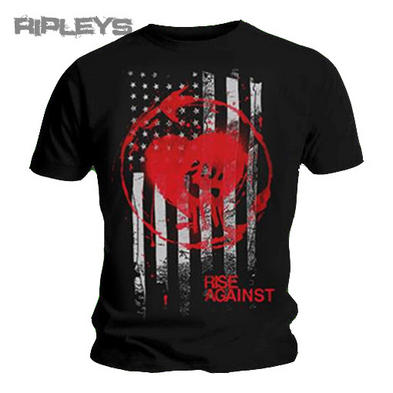 Official T Shirt RISE AGAINST Heart Fist STAINED FLAG Logo All Sizes