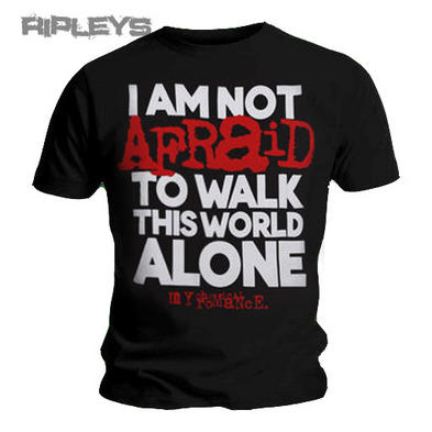 Official T Shirt MY CHEMICAL ROMANCE I Am Not Afraid Lyrics All Sizes