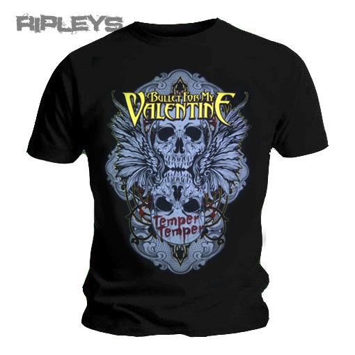 Official-T-Shirt-Bullet-For-My-Valentine-Temper-WINGED-SKULL-Logo-All-Sizes