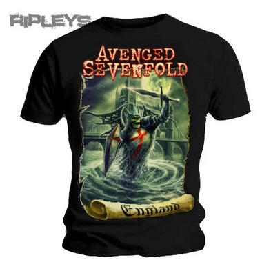 Official TShirt AVENGED SEVENFOLD Hail to the King ENGLAND Knight All Sizes