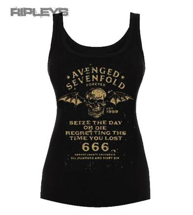 Official Ladies T Shirt AVENGED SEVENFOLD Seize The Day RIB Vest All Sizes