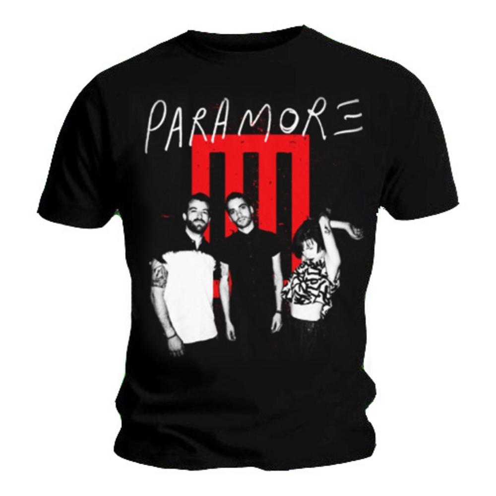 Official T Shirt PARAMORE Black BAR MATES Band All Sizes Paramore Merch