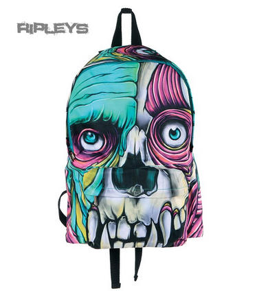 IRON FIST Ladies Goth Punk Backpack Bag SKIN CRAWLER Zombie Monster Canvas
