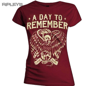 Official Ladies T Shirt A DAY TO REMEMBER Maroon Vulture All Sizes
