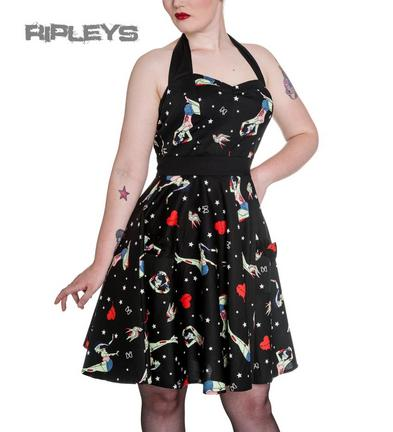 HELL BUNNY Black FOREVER DEAD Mini Dress Zombie Pinup Girls All Sizes