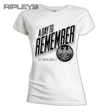 Official Ladies T Shirt A DAY TO REMEMBER White Phoenix All Sizes