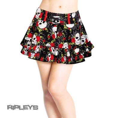 JAWBREAKER Black Red Bows Mini SKULL & ROSES SKIRT Goth All Sizes