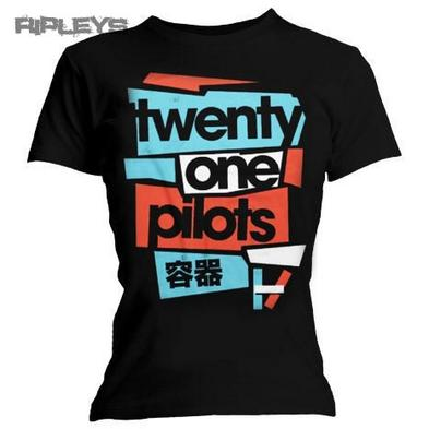 Official Ladies T Shirt 21 TWENTY ONE PILOTS Logo Fragments All Sizes Preview