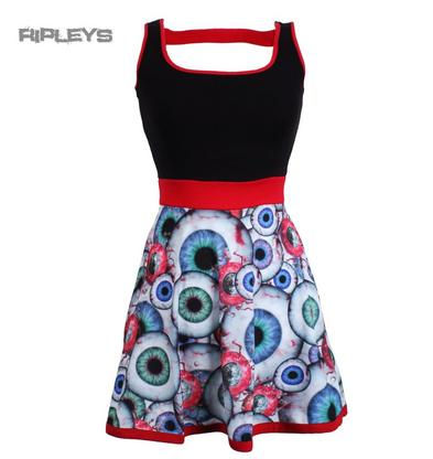 KREEPSVILLE 666 Red Ladies Mini Dress Top EYEBALL Horror Goth All Sizes
