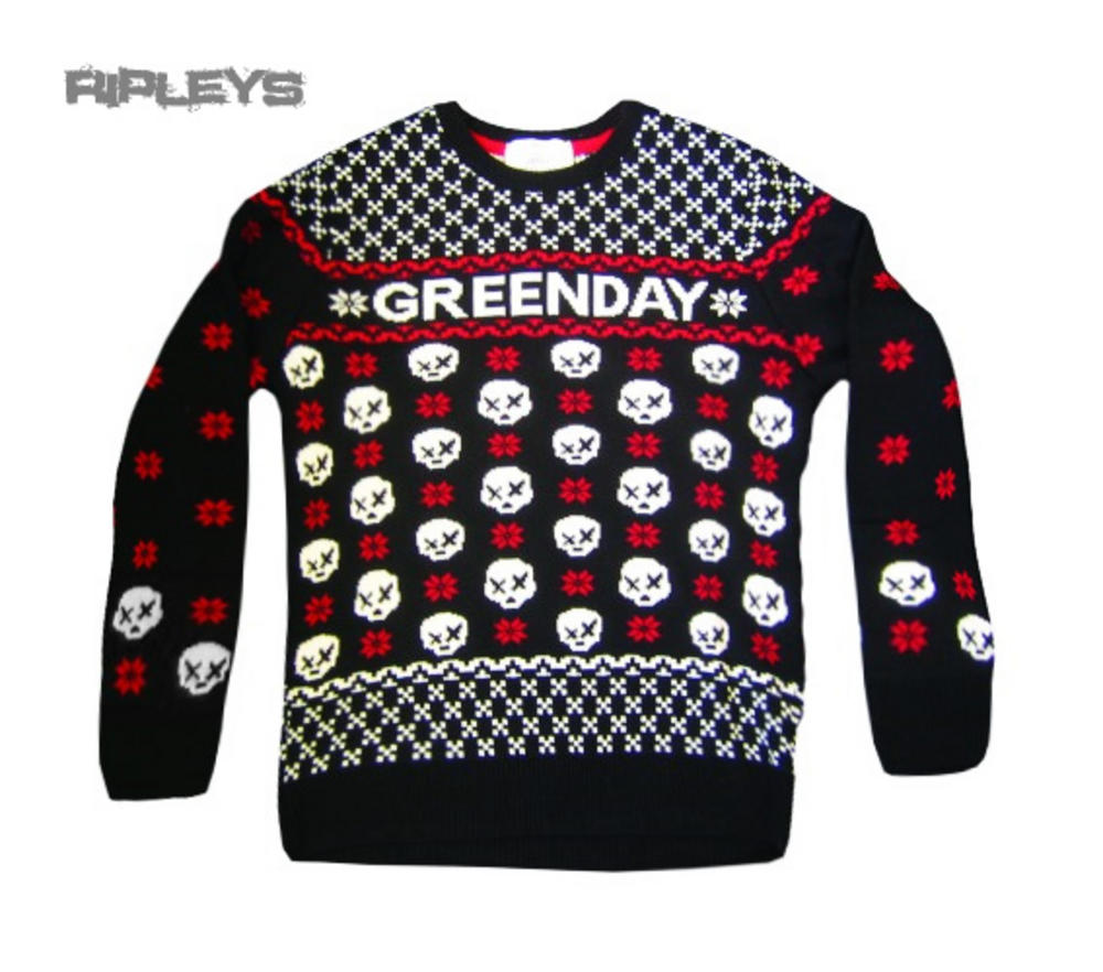 official green day sweater christmas jumper skulls gift all sizes - Green Day Christmas