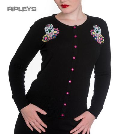 HELL BUNNY Ladies CALAVERAS Cardigan/Top Black Sugar Skulls All Sizes