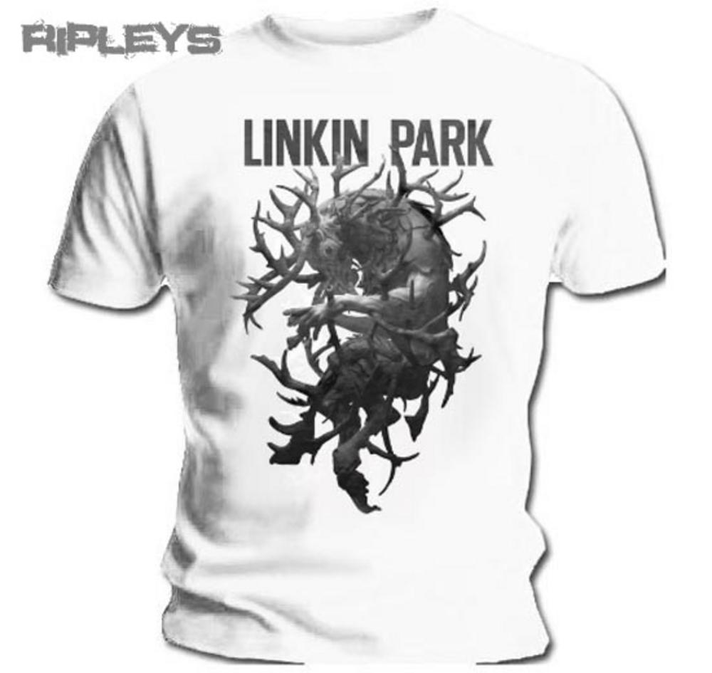 official t shirt linkin park white antlers the hunting party all sizes. Black Bedroom Furniture Sets. Home Design Ideas