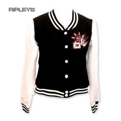 HELL BUNNY Black Varsity Top SADIE Jacket Baseball Swallows All Sizes