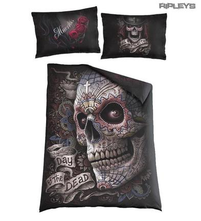 Spiral Direct BEDDING Single Duvet & Pillowcase EL MUERTO Sugar Skull